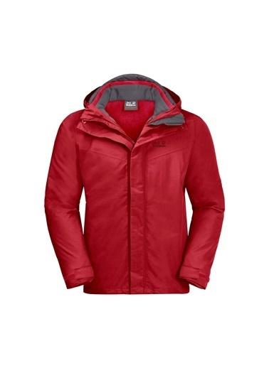 Jack Wolfskin Olfskin Gotland 3In1 M Erkek Ceket Kırmızı